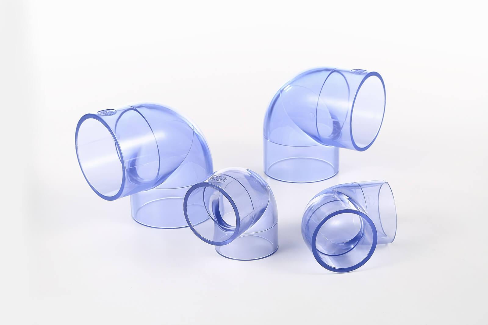 CLEAR PVC 90° ELBOW