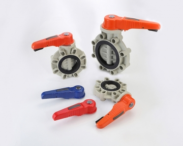 BUTTERFLY VALVE - HANDLE TYPE (PP)